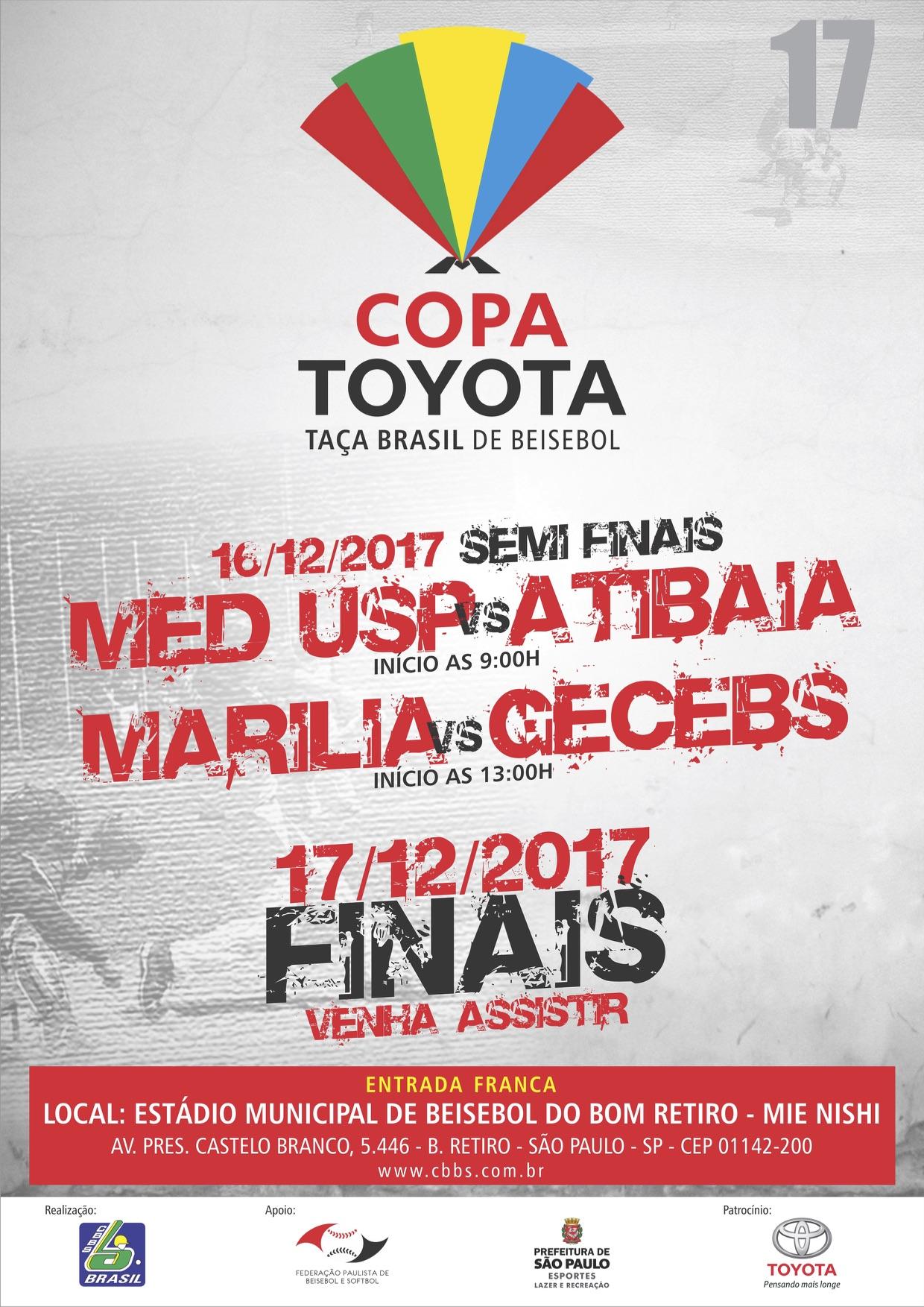 Convite Copa Toyota- Taça Brasil Adulto de Beisebol 2017 - CBBS 18f2c6a11d9